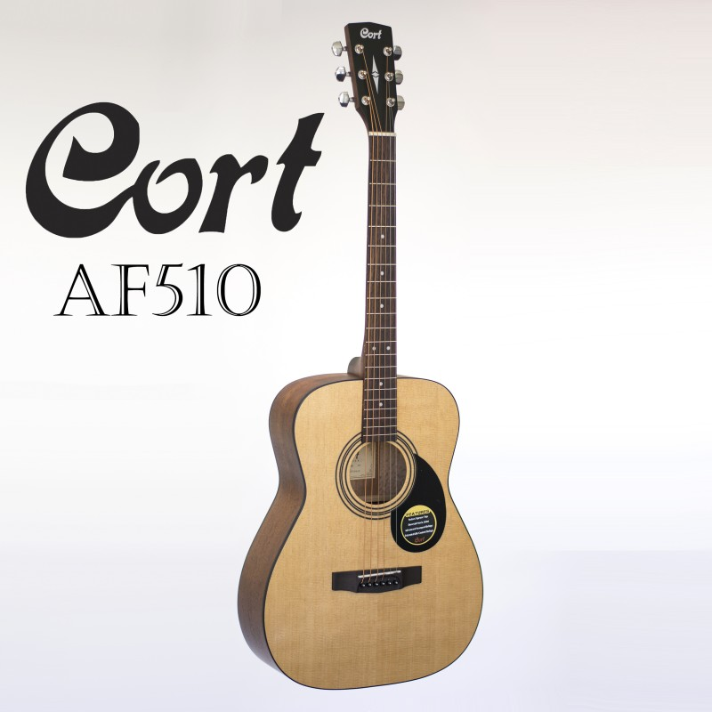 CORT AF510 CONCERT FOLK SIZE BODY STEEL STRING ACOUSTIC GUITAR