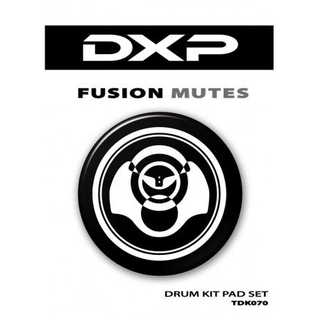DXP 7 PIECE RUBBER DRUM PAD/MUTE SET FOR FUSION KIT PRACTICE – TDK070