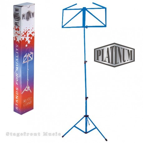 BLUE COATED MUSIC STAND. MEDIUM FRAME FLAT PAGE STAYS - MS107B