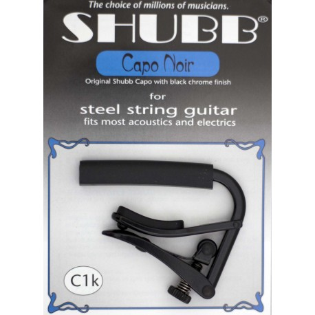 SHUBB C1k ORIGINAL BLACK CAPO for Steel String Guitars