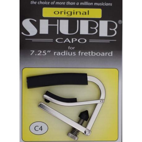 "SHUBB C4 CAPO FOR VINTAGE ELECTRIC GUITARS 7.25"" FRETBOARD RADIUS"