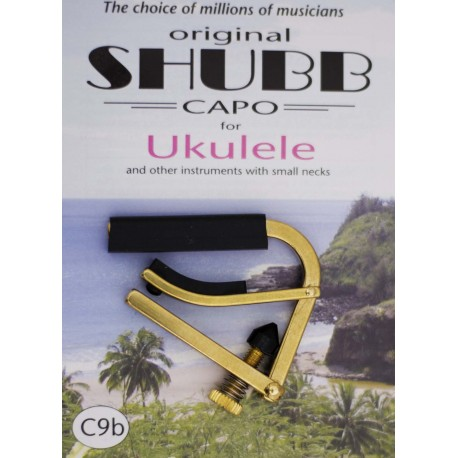 SHUBB C9B BRASS UKULELE CAPO LATEST MODEL RELEASE