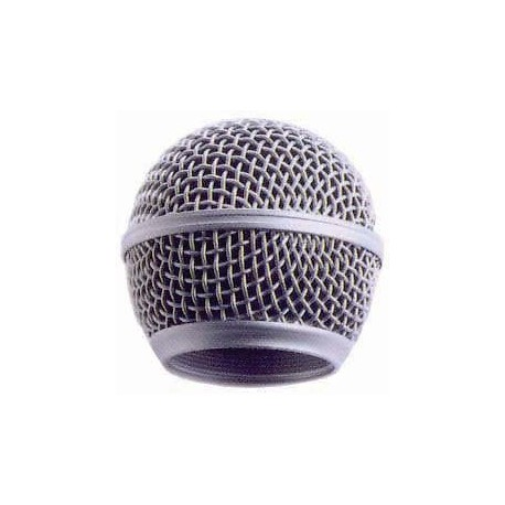 SILVER MICROPHONE GRILLE - TO SUIT SM58 STYLE MIC