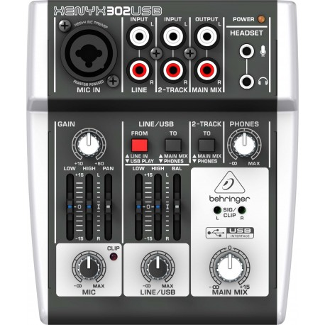 BEHRINGER 302USB XENYX 5 INPUT MIXER AND AUDIO INTERFACE