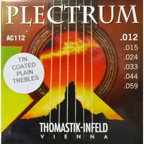 THOMASTIK PLECTRUM AC112 ACOUSTIC GUITAR STRINGS 12-59