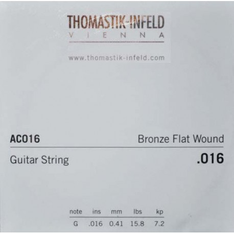 THOMASTIK PLECTRUM ACOUSTIC GUITAR STRING BRONZE .016