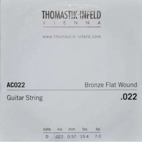 THOMASTIK PLECTRUM ACOUSTIC GUITAR STRING BRONZE .022