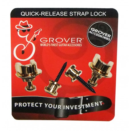 Grover Straplock. Quick-release Strap Lock GP800G- gold