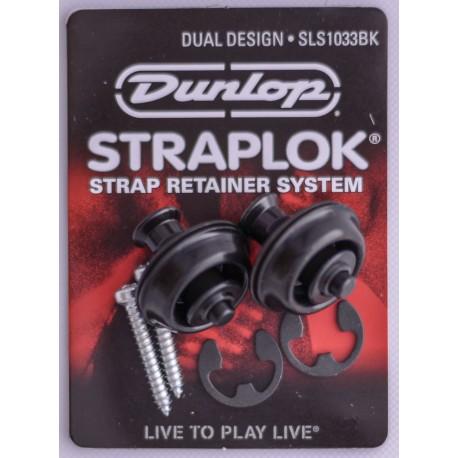 JIM DUNLOP STRAPLOCK - DUAL DESIGN STRAP LOCK. Nickel J103B