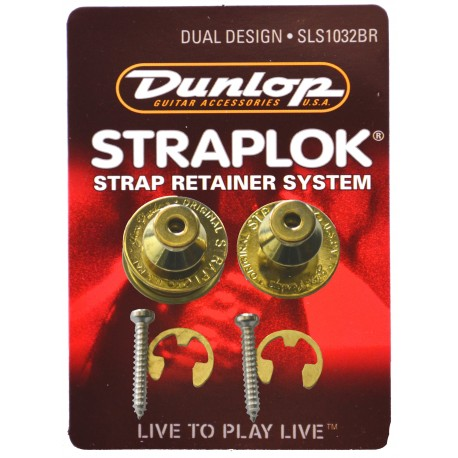 JIM DUNLOP STRAPLOCK - DUAL DESIGN STRAP LOCK. Nickel J103BR