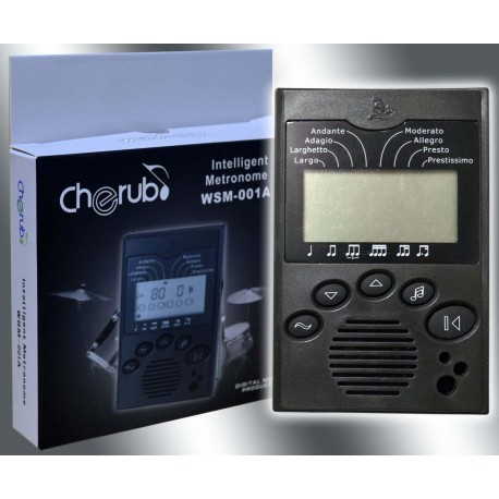 CHERUB - DIGITAL METRONOME. LCD DISPLAY. 8 BEAT COMBINATIONS. BAR COUNTER