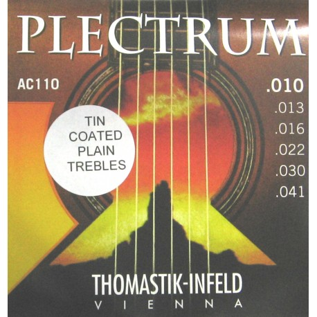 THOMASTIK PLECTRUM AC110 ACOUSTIC GUITAR STRINGS 10-41