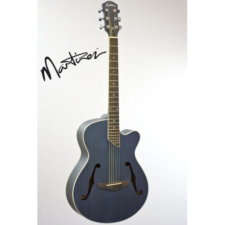 MARTINEZ JAZZ HYBRID ACOUSTIC-ELECTRIC CUTAWAY GUITAR. BLUE - MJH-3CP-TBL