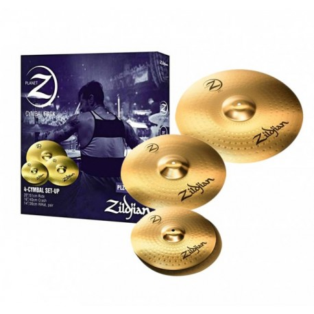 "ZILDJIAN - Planet Z Cymbal Pack PLZ4PK 14"" Hi Hats, 16"" Crash & 20"" Ride"