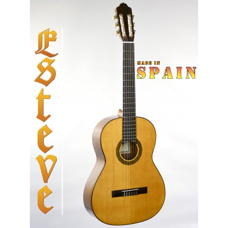 ESTEVE 4ST. SPANISH MADE CLASSICAL GUITAR SOLID SPRUCE GLOSS TOP