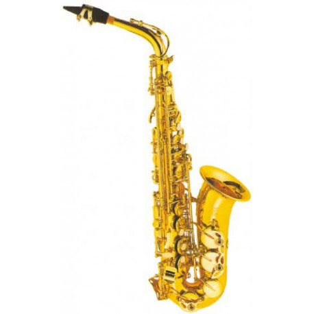 ALTO SAXOPHONE - FONTAINE Eb ALTO SAX CLEAR LACQUERED YELLOW BRASS BODY