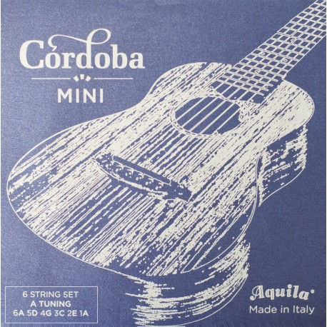 CORDOBA MINI A-TUNING GUITAR STRINGS. 1 SET AQUILA SUPERNYLGUT STRINGS