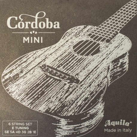 CORDOBA MINI E-TUNING GUITAR STRINGS. 1 SET AQUILA SUPERNYLGUT STRINGS