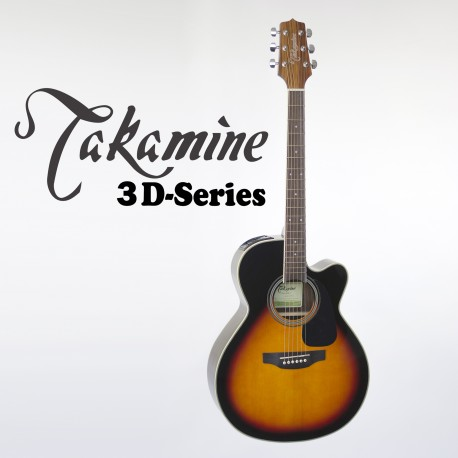 TAKAMINE ED3NCBSB SERIES 3. SPRUCE TOP GUITAR. ROSEWOOD BACK & SIDES
