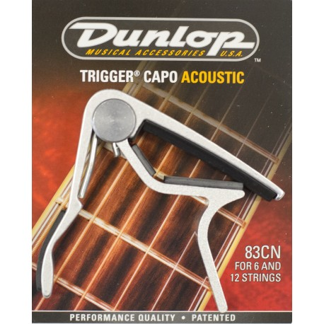 JIM DUNLOP NICKEL ACOUSTIC TRIGGER CAPO - J83CN