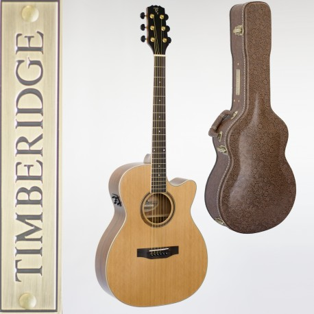 TIMBERIDGE TRFC-4-NST SMALL-BODY MAHOGANY ACOUSTIC-ELECTRIC GUITAR & CASE