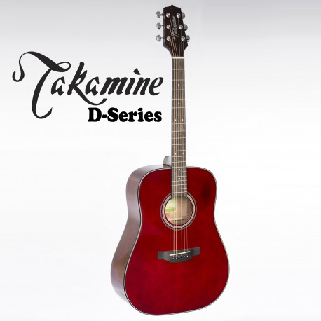TAKAMINE D2DWR. WINE RED GLOSS. NEW MODEL D SERIES ACOUSTIC GUITAR