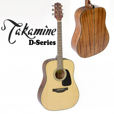 TAKAMINE D1DNS. DREADNOUGHT NATURAL SATIN ACOUSTIC SPRUCE TOP GUITAR