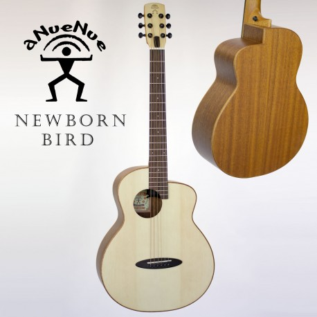 aNueNue M1 NEWBORN BIRD ACOUSTIC GUITAR SPRUCE TOP OPEN PORE FINISH FREE GIG BAG