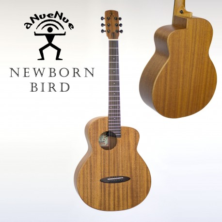 aNueNue M2EF NEWBORN BIRD MAHOGANY ACOUSTIC /ELECTRIC GUITAR w/FISHMAN PICKUP