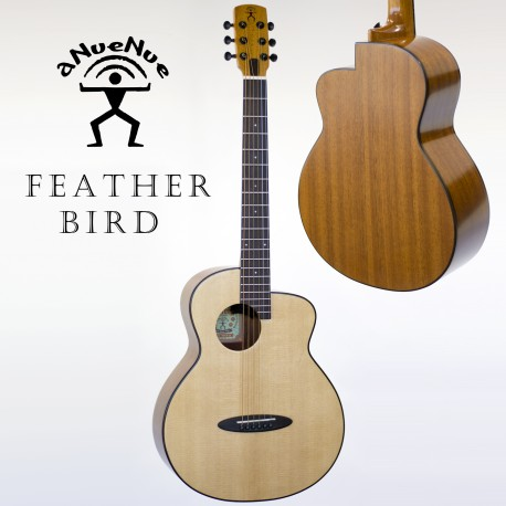 aNueNue M10EF FEATHER BIRD SOLID TOP ACOUSTIC/ELECTRIC GUITAR. FISHMAN PICKUP