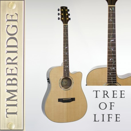 TIMBERIDGE TRC-3T-NGL SOLID TOP AC/ELEC DREADNOUGHT GUITAR WITH 'TREE OF LIFE'