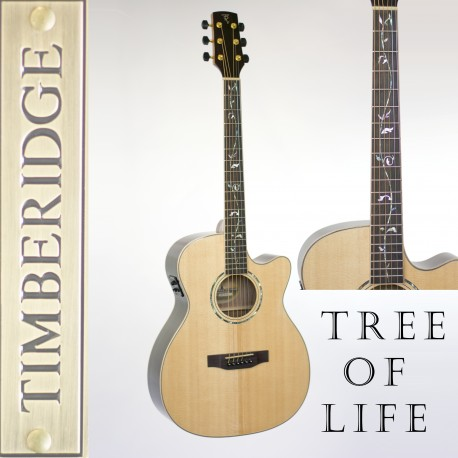 TIMBERIDGE TRFC-3T-NGL SOLID TOP AC/ELEC SMALL BODY GUITAR WITH 'TREE OF LIFE'