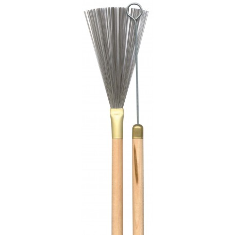 DRUM BRUSHES - LACQUERED WOODEN HANDLE WIYH METAL ENDS - DA788