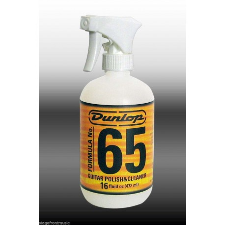 DUNLOP 472ml FORMULA 65 GUITAR POLISH & CLEANER. SPECIALLY FORMULATED CLEANER