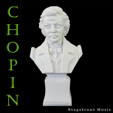 CHOPIN 7 INCH COMPOSER BUST STATUETTE - POLYRESIN - WEIGHS & FEELS LIKE MARBLE