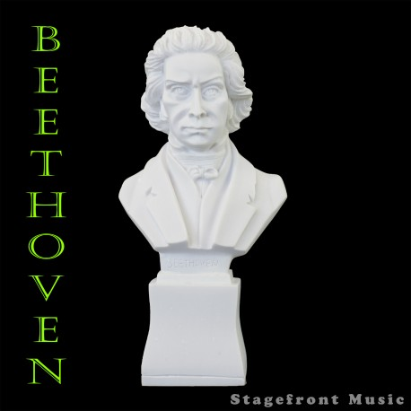BEETHOVEN 7 INCH COMPOSER BUST STATUETTE - POLYRESIN - WEIGHS & FEELS LIKE MARBLE