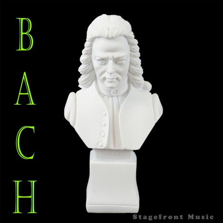 BACH 7 INCH COMPOSER BUST STATUETTE - POLYRESIN - WEIGHS & FEELS LIKE MARBLE