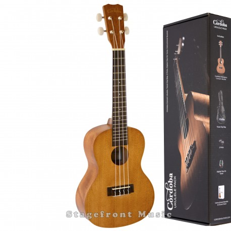 CORDOBA UP100 CONCERT UKULELE PACK. YOU HAVE TO HEAR THIS ONE!