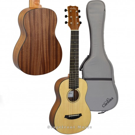 CORDOBA MINI MAHOGANY BODY ACOUSTIC NYLON STRING GUITAR ULTIMATE TRAVEL INSTRUMENT