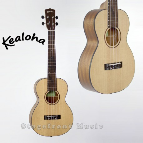 KEALOHA KTW25 TENOR UKULELE SOLID SPRUCE TOP AQUILA STRINGS