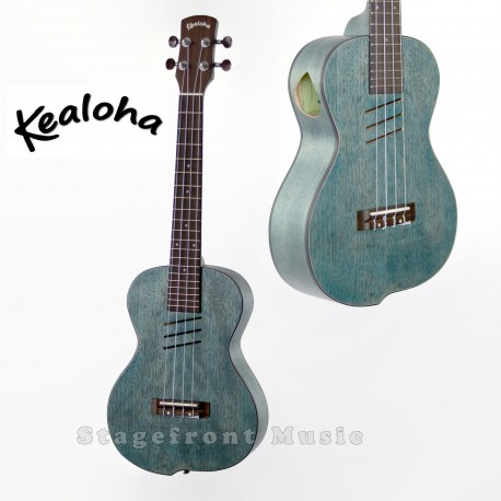 KEALOHA JUK3 TENOR UKULELE. OFFSET CURVED BODY SHAPE - BLUE