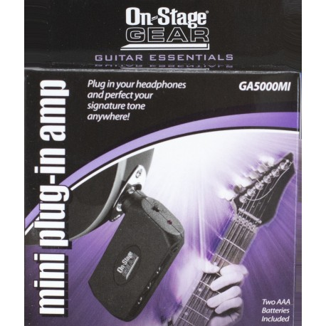 ONSTAGE GA5000MI MINI HEADPHONE AMP FOR GUITAR