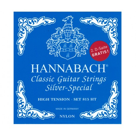 HANNABACH E815 HT CLASSICAL SET-SILVER SPECIAL - BLUE HIGH TENSION - 2 D-STRINGS