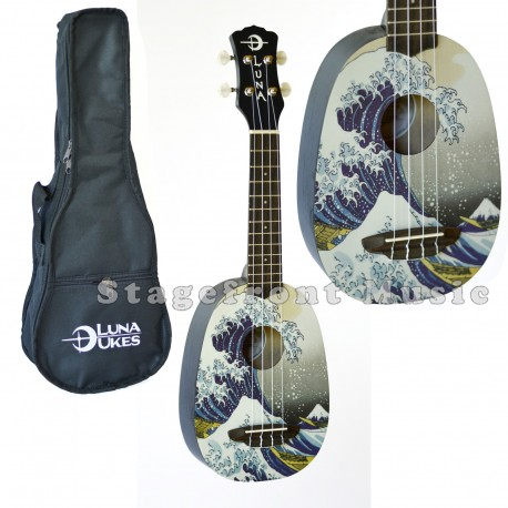 LUNA ARTISTIC SERIES GREAT WAVE SOPRANO UKULELE Model: GWS