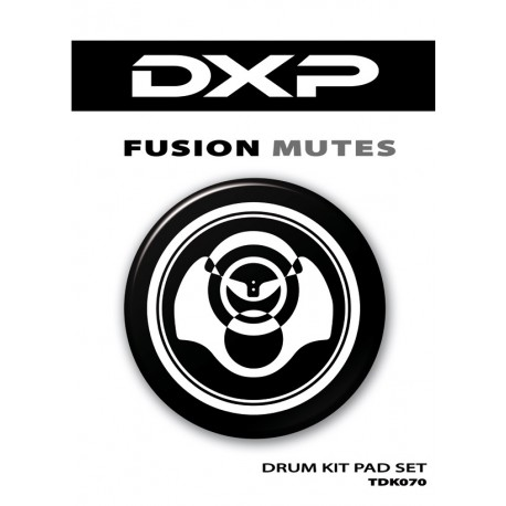 DXP 7 PIECE RUBBER DRUM PAD/MUTE SET FOR FUSION KIT PRACTICE – TDK070