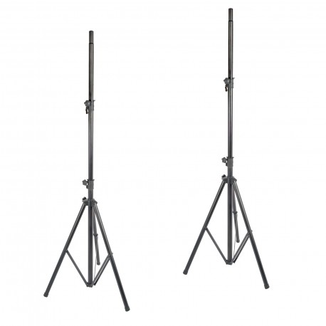 XTREME SS272 HEAVY DUTY SPEAKER STANDS PAIR STEEL FOLDING TRIPOD BASE 80KG CAPACITY