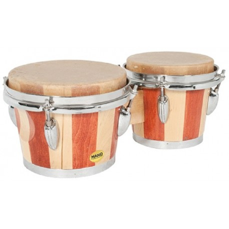 "MANO PERCUSSION TUNABLE 7"" & 8"" BONGO DRUMS NATURAL SKIN HEADS – MP714"