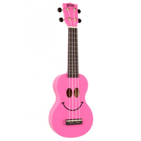 MAHALO U60SM PINK SOPRANO UKULELE SMILEY FACE FOR BEGINNERS WITH CARRY BAG