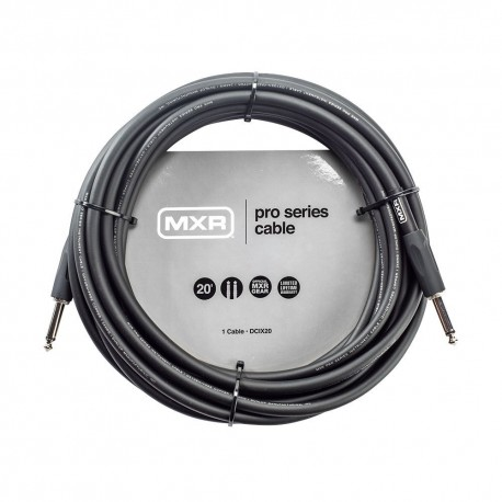 MXR PRO SERIES DCIX20 20 FOOT INSTRUMENT CABLE STRAIGHT-STRAIGHT JACK GUITAR LEAD