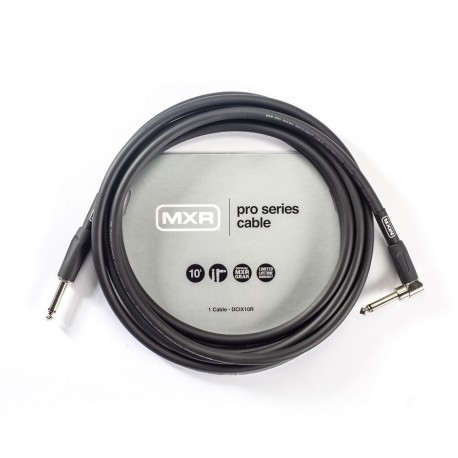 MXR PRO SERIES DCIX10R 10 FOOT INSTRUMENT CABLE STRAIGHT-RIGHT ANGLE JACK GUITAR LEAD